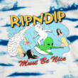 Ripndip Hang Ten kapucnis pulóver Baby Blue Stripe Wash