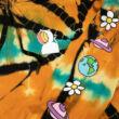 Ripndip Open Minded kapucnis pulóver Orange Blue Sunburst Dye