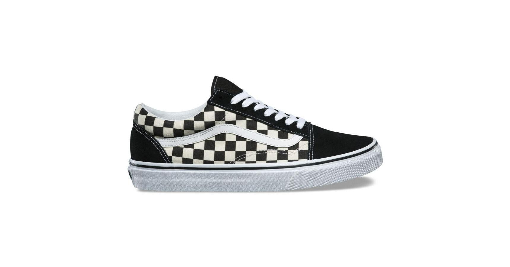 Vans Old Skool (Primary Check) Blk White | Footshop