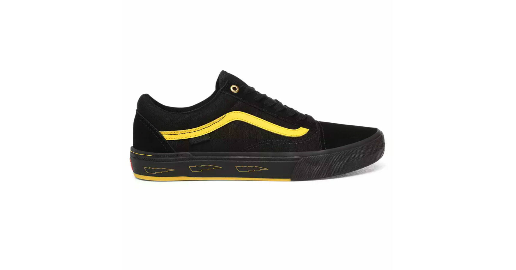 Vans Old Skool Pro BMX Larry Edgar cipő Black Yellow