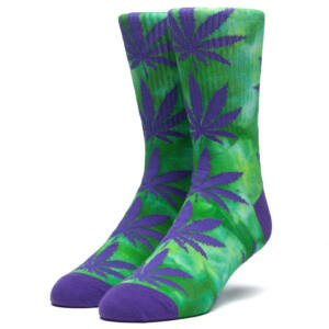 HUF Tie Dye crew zokni Blue Iris 1 pár