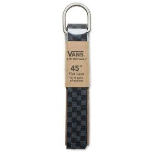 Vans cipőfűző Black Charcoal Checkerboard 1pár 114cm