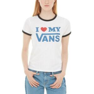 Vans Love Ringer póló White/Black