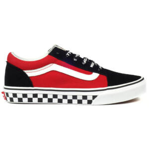 Vans Old Skool Logo Pop gyerek cipő Black True White 31697dc702