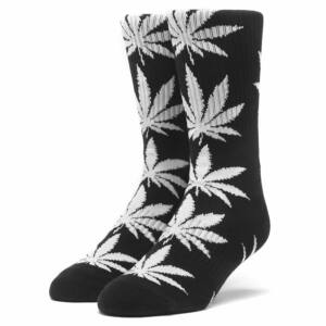 HUF Essentials Plantlife zokni Black White 1 pár