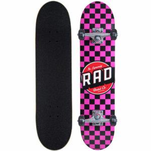 Rad Checkers 2 Dude Crew komplett gördeszka Black Pink 7.0x29.5