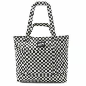 Vans Tell All Zip tote táska Black White Checkerboard
