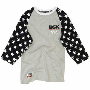 DGK Americana raglan Heather Grey-Black
