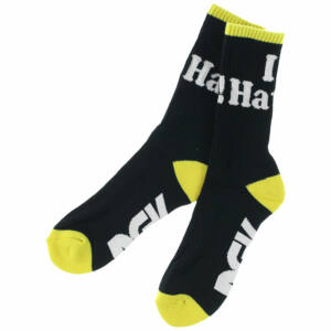 DGK Haters zokni Black/Yellow 1 pár