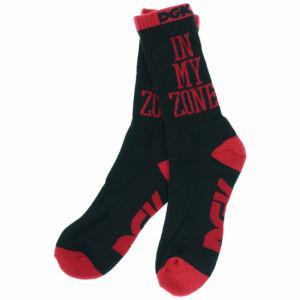 DGK In My Zone zokni Black/Red 1 pár