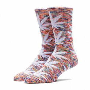 HUF Streaky Plantlife Crew zokni Rainbow/White 1 pár