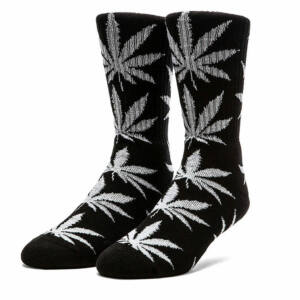 HUF Glow In The Dark Zokni Black 1 pár