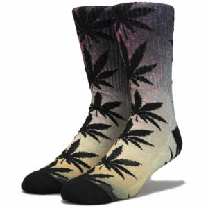 HUF Scenic Plantlife Crew zokni Spaced Out 1 pár