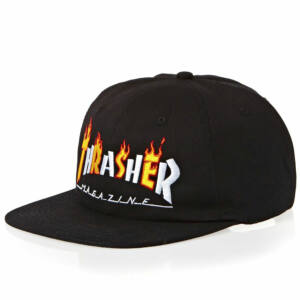 Thrasher Flame Mag sapka Black