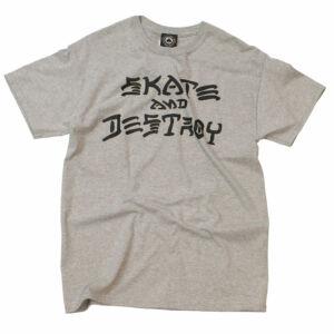 Thrasher Skate & Destroy póló Grey