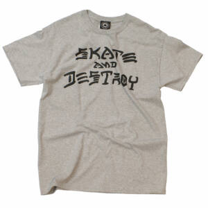 Thrasher Skate & Destroy póló Grey