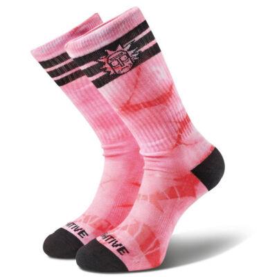 Primitive X Rick And Morty Rick Ringer crew zokni Pink Tie Dye