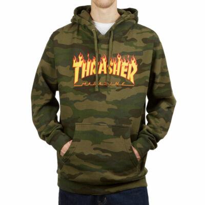 Thrasher Flame kapucnis pulóver Forest Camo
