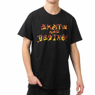 Thrasher Skate and Destroy BBQ póló Black