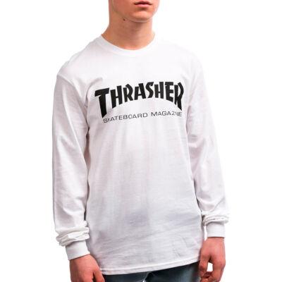 Thrasher Skate Mag ls póló White