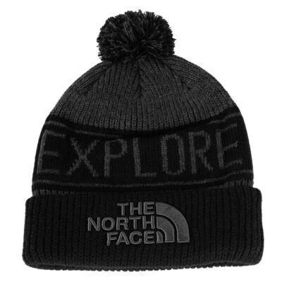 The North Face Retro TNF Pom téli sapka TNF Medium Grey Heather TNF Black