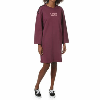 Vans Chromo Dress pulóver ruha Prune