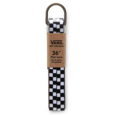 Vans cipőfűző Black White Checkerboard 1pár 91cm