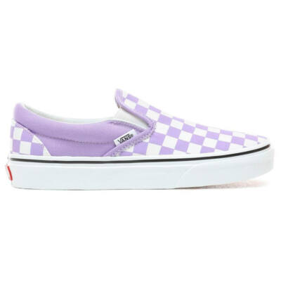 Vans Classic Slip-On cipő Checkerboard Violet Tulip White