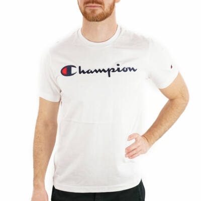 Champion Large Embroidered Logo póló WHT