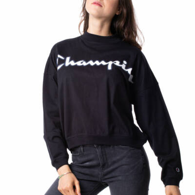 Champion Printed Logo High Neck ls póló NBK