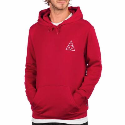HUF Essentials Triple Triangle kapucnis pulóver Rio Red