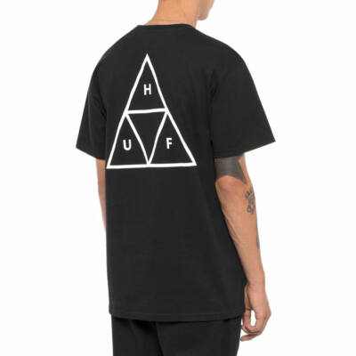 HUF Essentials Triple Triangle póló Black