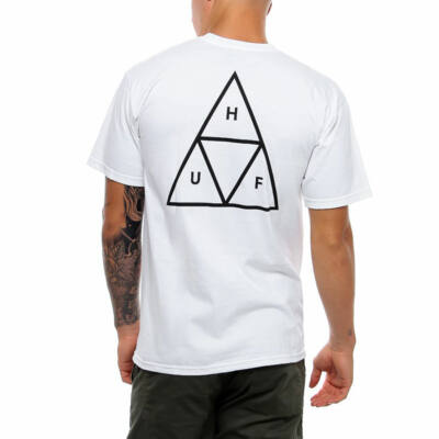 HUF Essentials Triple Triangle póló White