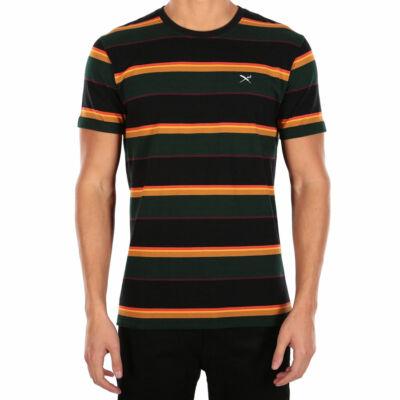 Iriedaily Rustico Stripe póló Black Yellow