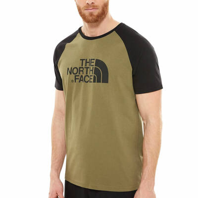 The North Face Easy Tee raglan Burnt Olive Green
