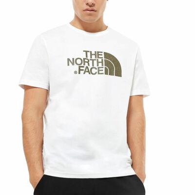The North Face Easy póló Burnt Olive Green Rain Camo Print