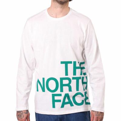 The North Face Graphic Flow ls póló TNF White Fanfare Green