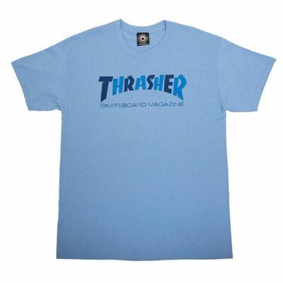 Thrasher Checkers póló Carolina Blue