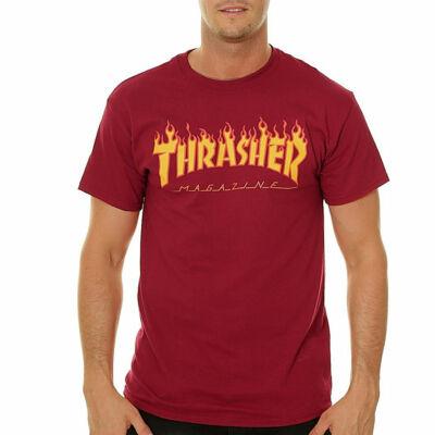 Thrasher Flame póló Cardinal Red