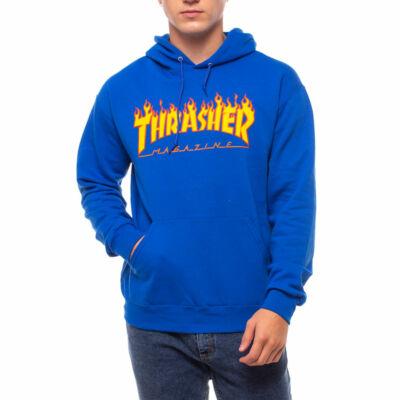 Thrasher Flame kapucnis pulóver Royal