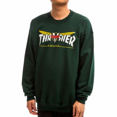 Thrasher X Venture kapucnis pulóver Forest Green