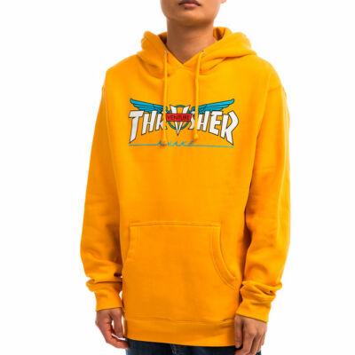 Thrasher X Venture kapucnis pulóver Gold