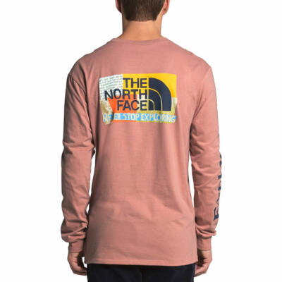 The North Face Graphic ls póló Pink Clay