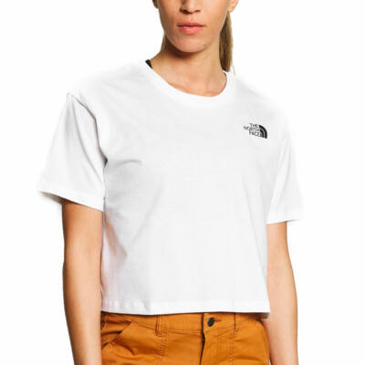 The North Face Simple Dome crop póló TNF White