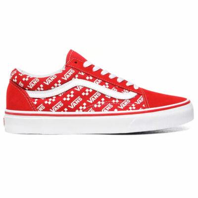 Vans Old Skool Logo Repeat cipő Racing Red True White