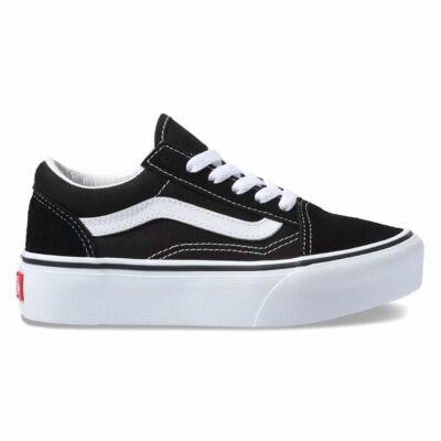 Vans Old Skool Platform gyerek cipő Black White