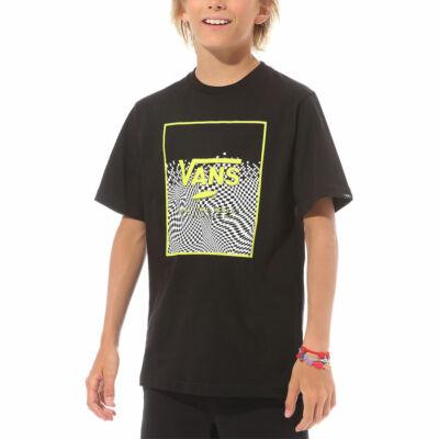 Vans Print Box Boys gyerek póló Black Warp Checkerboard