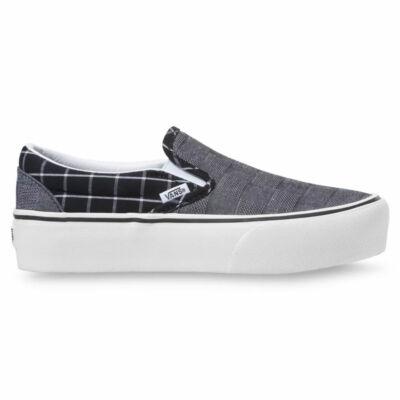 Vans Slip-On Platform cipő Woven Check Multi Blanc de Blanc