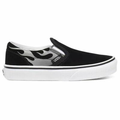 Vans Classic Slip-On Suede Flame cipő Black True White