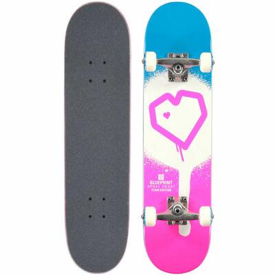 Blueprint Spray Heart komplett gördeszka Blue Pink 7.25x29